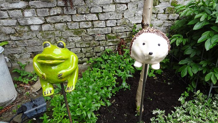 Tuinprikker kikker en egel